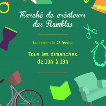 Marché des créateurs sur les «Ramblas» de Toulouse